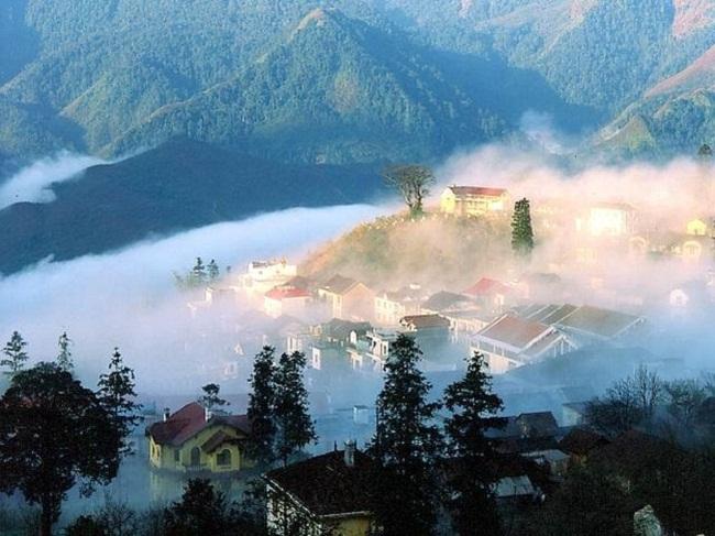 Sapa thị trấn trong sương